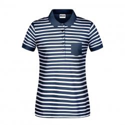 8029 Damska koszulka polo w paski