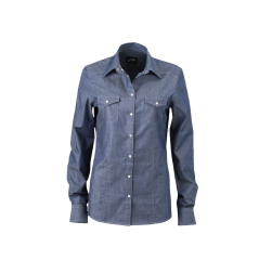 JN628 Ladies  Denim Shirt