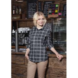 BF 7 Damska koszula w krate z długim rękawem Urban-Flair