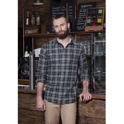 BM 7 Męska koszula w kratę z długim rękawem Urban-Flair