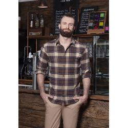 BM 9 Męska koszula w kratę z długim rękawem Urban-Trend