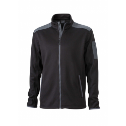 JN591 Men s Knitted Fleece Jacket