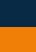French Navy / Neon Orange